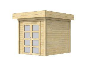 Moderne Blokhut Kolibri 250x250 cm