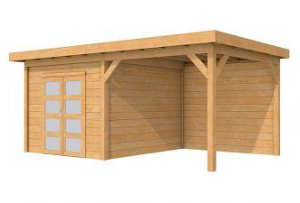 Tuinhuis Roek Blank 302,5x302,5 cm + luifel 300 cm