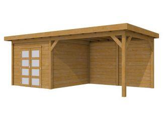 Tuinhuis Roek geïmpregneerd 302,5x302,5 cm + luifel 400 cm