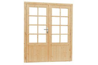 Woodvision Dubbele deur 8-ruits 168x201 cm - Blank