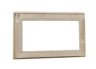 Woodvision Vast raam melkglas 72x45 cm - Groen geïmpregneerd