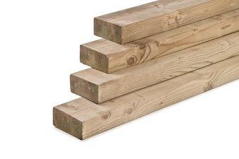 Noord-Zweeds timmerhout glad geschaafd 4,4x7x450 cm