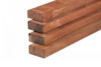 Hardhout fijnbezaagd timmerhout 4,0x9x300 cm