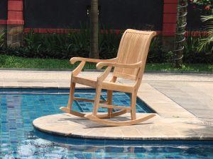 Teak schommelstoel relax