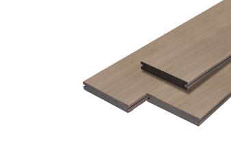 Vlonderplank Supreme massief composiet 2x14x400 cm - Smoke Grey