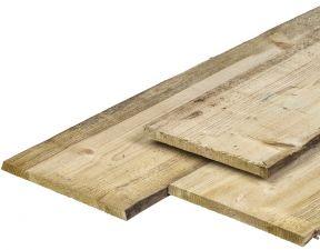 Grenen schaaldelen geïmpregneerd 1,8x20-25x360 cm