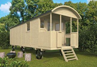 Pipowagen / Zigeunerwagen XL met veranda 820x240 cm