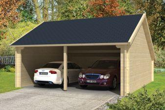 Garage/Kapschuur Nysse 600x600 cm zwart dak