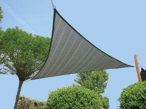 Zonnezeil/Schaduwnet 3-hoek 550x550 zilvergrijs