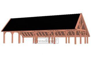 Trendhout kapschuur de Hofstee XXL 1505x720 cm - basis