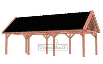 Trendhout buitenverblijf zadeldak XL 926x440 - basis