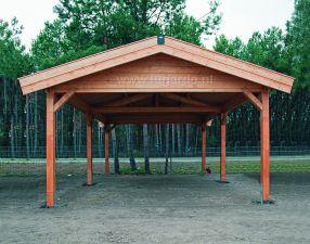Carport Zadeldak C2 - 400x600 cm