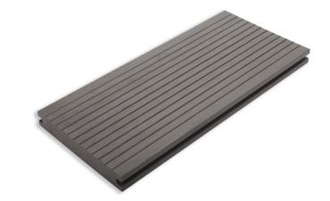 Composiet Solid vlonder pakket compleet Grijs 2,1x14x280 cm - per m2