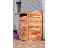 Hardhouten containerberging enkel open