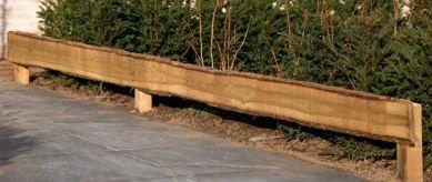 Fijnbezaagde schaaldeel Douglas 1,9x15-25x400 cm - blank