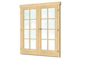 Dubbele deur D2 B159xH190 cm 28-45 mm