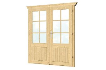 Dubbele deur D3 B159xH190 cm 28-45 mm