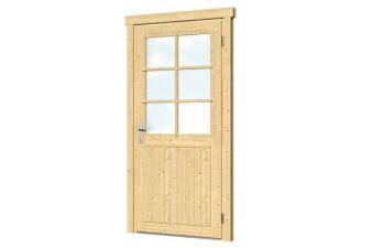 Extra hoge en brede enkele deur B99xH209cm 28-70 mm - rechtsdraaiend