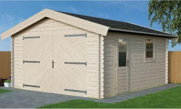 Actie garage Zadeldak 420x470cm 28mm