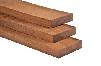 Hardhout geschaafd timmerhout 1,6x7x180 cm