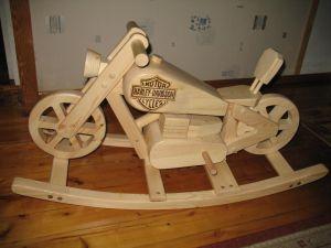 Handgemaakte houten chopper