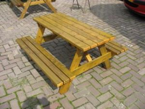 Picknicktafel volwassenen 74x126x180 cm