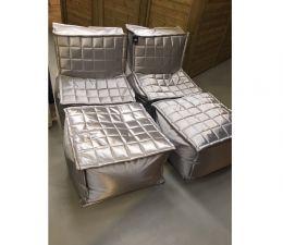 PTMD Lounge Gardenset zilver