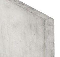 Betonnen onderplaat 3.5x25x180cm wit/grijs 2-zijdig glad met afwateringsdakje