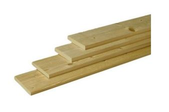 Plank geïmpregneerd grenen 1,5x14x300 cm