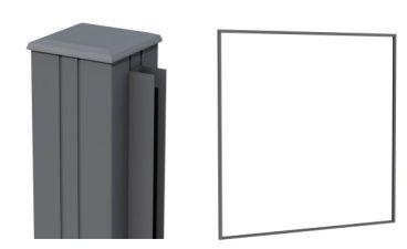 Aluminium profielenset antractiet