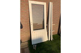 Enkele deur wit gecoat 78x193cm