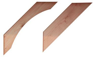 Douglas gebogen schoor 4,3x14,5x76 cm - blank