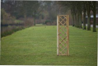 Trellis diagonaal met lijst 40x180 cm