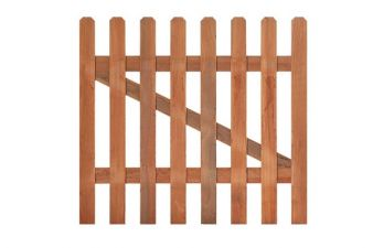 Tuinhekdeur hardhout recht H60xB100 cm