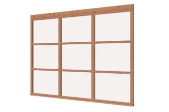 Glaswand 3-delig