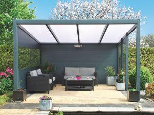 Profiline terrasoverkapping - vrijstaand - 400x250 cm - polycarbonaat dak