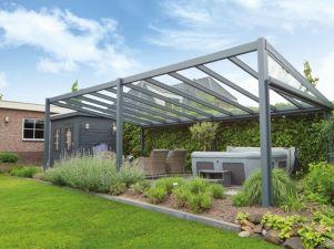 Profiline terrasoverkapping - vrijstaand - 700x300 cm - polycarbonaat dak