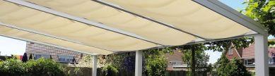 Pakket zonnedoek gebroken wit 440 cm