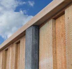 Verbindingsbalk hardhout voor sleufpalen 3,5x11,5x400cm