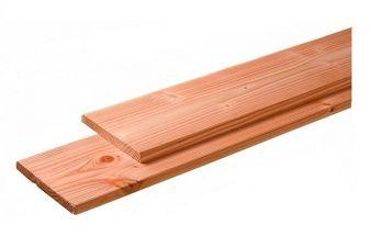 Geschaafde fijnbezaagde planken Douglas 2.8x19.5x500 cm - blank