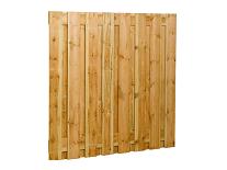 Plankenscherm grenen 180x180 cm - recht verticaal (08075)