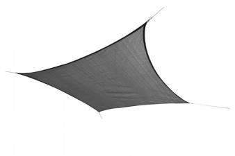 Schaduwdoek vierkant 360x360 cm - Zwart - SALE004