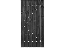 Tuindeur Privacy zwart gespoten grenen H200xB100 cm